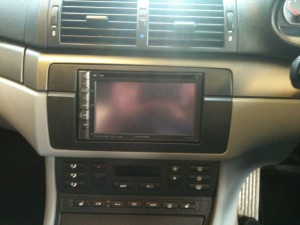 BMW 3 Series with Alpine Double Din Screen, Climate control moved.