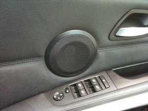 BMW Better Speakers Behind Standard Grille