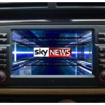 BMW Sat nav screen with Digital TV