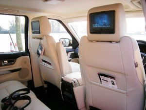 Headrest Screens Range Rover