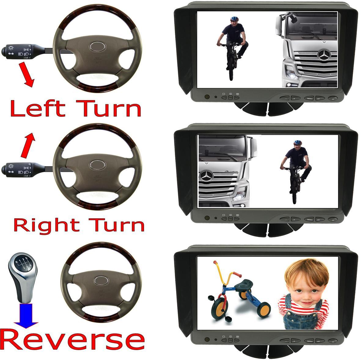 Vehicle CCTV Blind Spot Safety Cameras